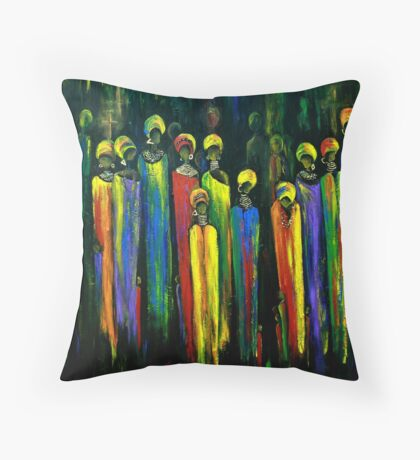 GOGO AND THE ANCESTORS Throw Pillow