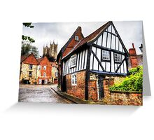 Lincoln Cathedral From Steep Hill  Greeting Card