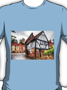 Lincoln Cathedral From Steep Hill  T-Shirt