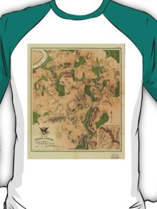 Civil War Map of the Battlefield of Antietam Sept 17 1862 T-Shirt