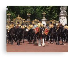 Drum Horse & mounted band Canvas Print