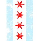Distressed Chicago Flag by iEric