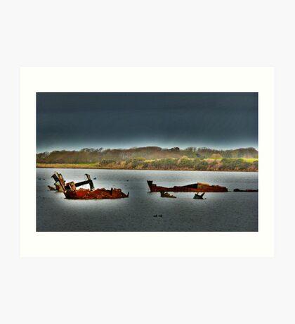 Fleetwood Wrecks . Art Print
