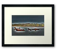 Fleetwood Wrecks . Framed Print
