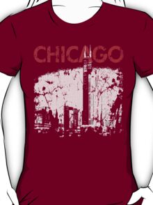 Vintage Chicago Tower Skyline T-Shirt