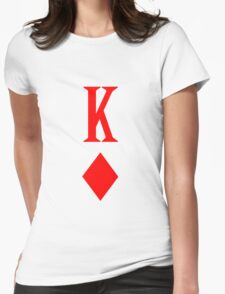 King of diamonds red playing card geek funny nerd Womens Fitted T-Shirt