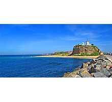 Nobby's Beach & Lighthouse Photographic Print