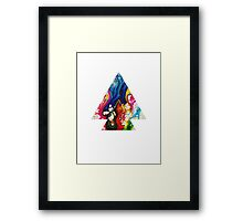 Abstract Geometry: Swirling Psychedelia (Colorful) Framed Print
