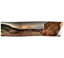 Hilbre Island Sunset Poster