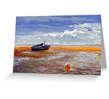 Boat at Weston-super-Mare Greeting Card