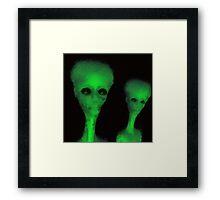Alien Big Head by Raphael Terra Framed Print