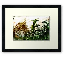 aztec abstract Framed Print