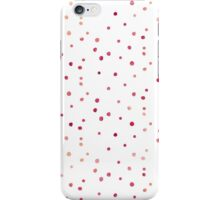 Red watercolor dots pattern iPhone Case/Skin