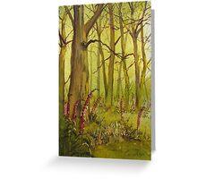 Foxgloves in Fairy Call Beck Greeting Card