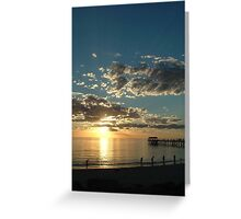 Sunset over the Great Australian Bight Greeting Card