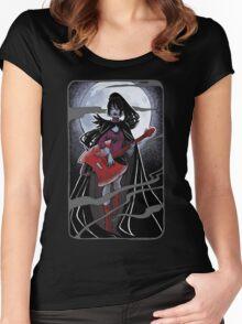 Night of the scream queen II Women's Fitted Scoop T-Shirt