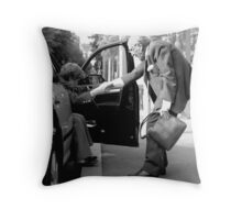 old Taxi Love Throw Pillow