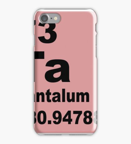 Tantalum Periodic Table of Elements iPhone Case/Skin