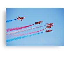 The Red Arrows, Hastings Canvas Print