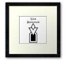 Skyrim - Your Destination Framed Print