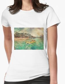 View from Avalon Bridge Isla Mujeres Womens Fitted T-Shirt