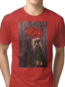Pink Umbrella  Tri-blend T-Shirt