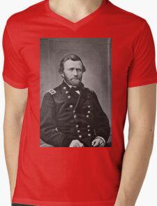 Portrait of Civil War General Ulysses S. Grant Mens V-Neck T-Shirt