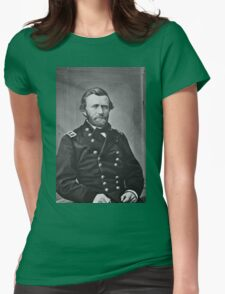 Portrait of Civil War General Ulysses S. Grant Womens Fitted T-Shirt