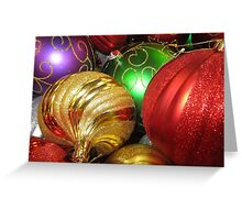Christmas Orbs Greeting Card
