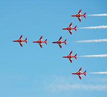 The Red Arrows team by David Fowler