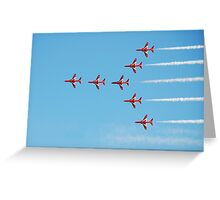 The Red Arrows team Greeting Card