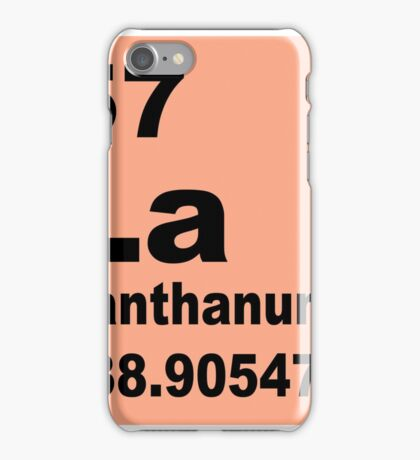 Lanthanum Periodic Table of Elements iPhone Case/Skin