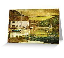 The Helford river at Gweek Greeting Card