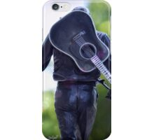Johnny Cash guitar iPhone Case/Skin
