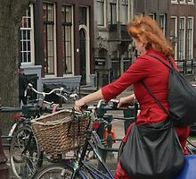 shopper on bike by LisaBeth