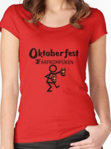 Oktoberfest farfrompukin geek funny nerd Women's Fitted Scoop T-Shirt