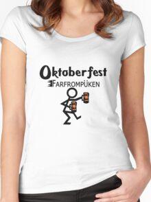 Oktoberfest farfrompukin geek funny nerd Women's Fitted Scoop T-Shirt