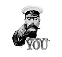World War One, Lord Kitchener, WW1, Your Country needs you! Recruitment Poster Photographic Print