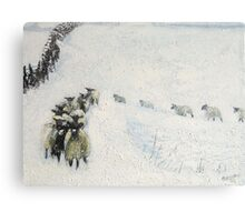 Swaledales in Snow Canvas Print