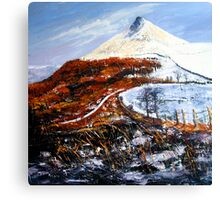 Ice and Fire, Roseberry Topping  Canvas Print