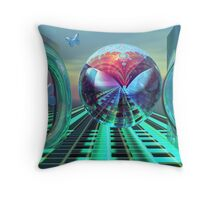 The free butterfly Throw Pillow
