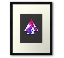 Abstract Geometry: Swirling Psychedelic Oils (Purple/Pink/White) Framed Print