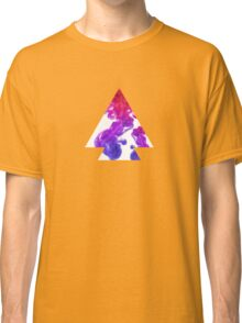 Abstract Geometry: Swirling Psychedelic Oils (Purple/Pink/White) Classic T-Shirt