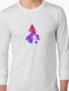 Abstract Geometry: Swirling Psychedelic Oils (Purple/Pink/White) Long Sleeve T-Shirt