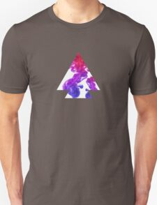 Abstract Geometry: Swirling Psychedelic Oils (Purple/Pink/White) T-Shirt
