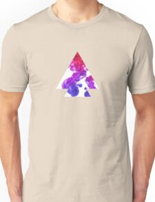 Abstract Geometry: Swirling Psychedelic Oils (Purple/Pink/White) Unisex T-Shirt