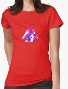Abstract Geometry: Swirling Psychedelic Oils (Purple/Pink/White) Womens Fitted T-Shirt