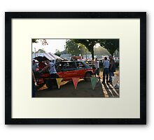 getting ready for the demolition derby Framed Print