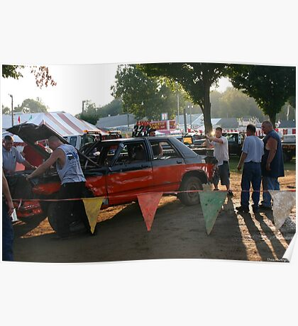 getting ready for the demolition derby Poster