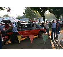 getting ready for the demolition derby Photographic Print